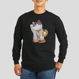 Lucky Cat Long Sleeve Dark T-Shirt