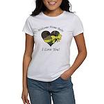 Welcome Home Babe Camo Heart Women's T-Shirt