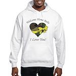 Welcome Home Babe Camo Heart Hooded Sweatshirt