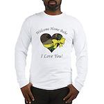 Welcome Home Babe Camo Heart Long Sleeve T-Shirt