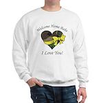 Welcome Home Babe Camo Heart Sweatshirt
