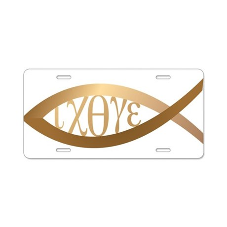 Jesus Fish Aluminum License Plate