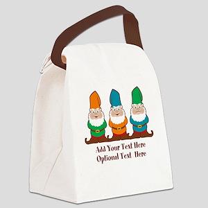 Gnomes Design Canvas Lunch Bag