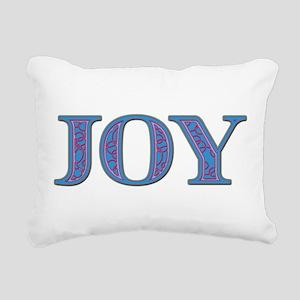 Joy Blue Glass Rectangular Canvas Pillow