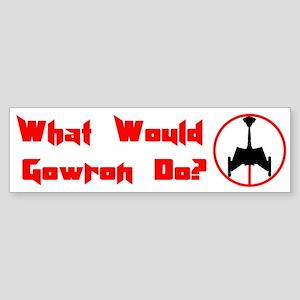 Gowron D7 Bumper Sticker