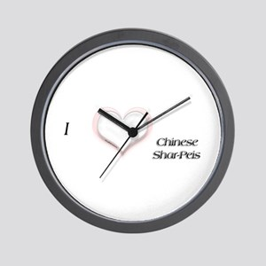 I heart Shar Peis Wall Clock