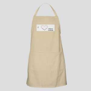 I heart Chinese Cresteds BBQ Apron