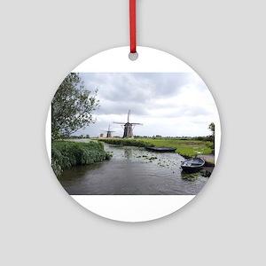 Dutch windmills Ornament (Round)