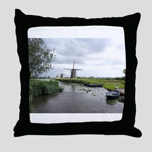Dutch windmills Throw Pillow