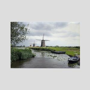 Dutch windmills Rectangle Magnet
