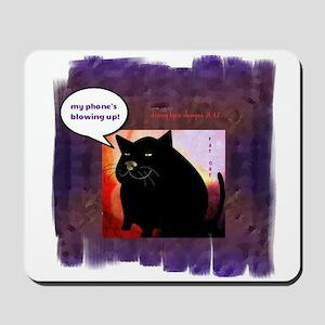 Funny Fat Cat Phone Mousepad