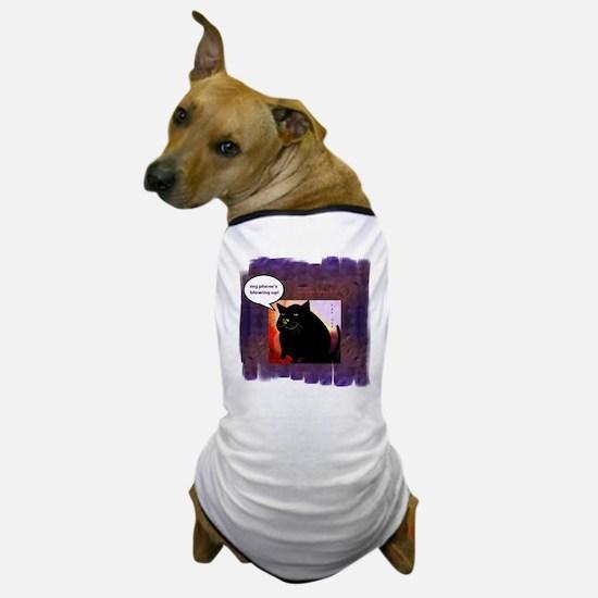 Funny Fat Cat Phone Dog T-Shirt