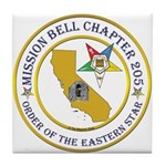 Custom Mission Bell OES Tile Coaster
