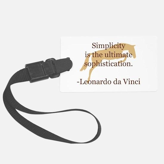 jumper horse simpicity da Vinci.jpg Luggage Tag
