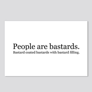 People are bastards Postcards (Package of 8)