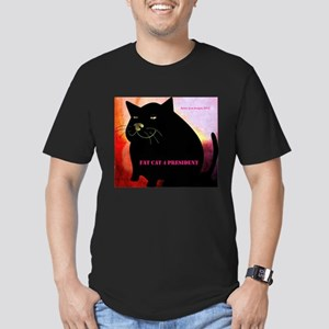 Fat Cat 4 President Men's Fitted T-Shirt dark