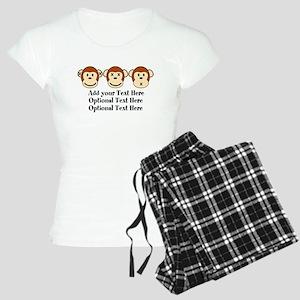 Three Monkeys Design Women's Light Pajamas