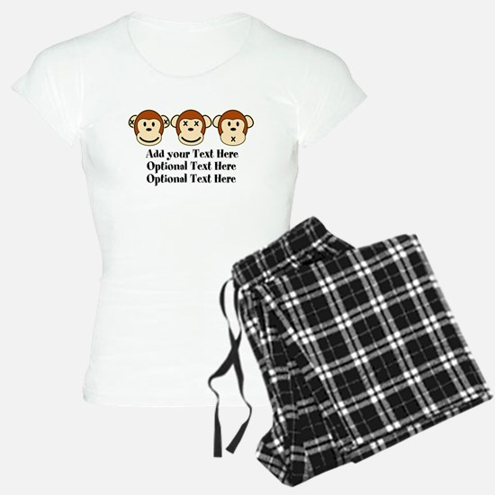 Three Monkeys Design Pajamas