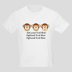Three Monkeys Design Kids Light T-Shirt