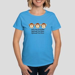 Three Monkeys Design Women's Dark T-Shirt