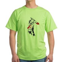 Kill The Zombies Green T-Shirt