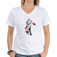 Kill The Zombies Women's V-Neck T-Shirt