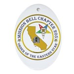Custom Mission Bell OES Ornament (Oval)