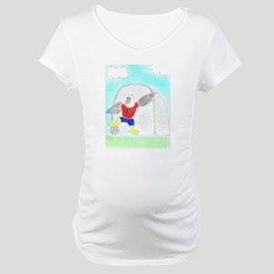 Soccer Eagle Maternity T-Shirt