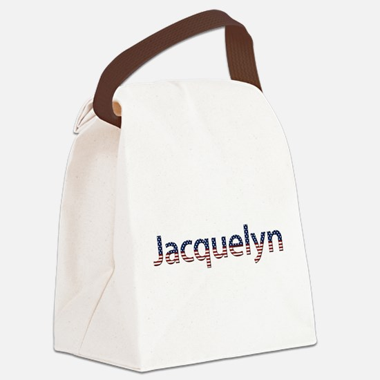 Jacquelyn Stars and Stripes Canvas Lunch Bag