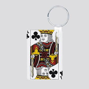 King of Clubs Aluminum Photo Keychain