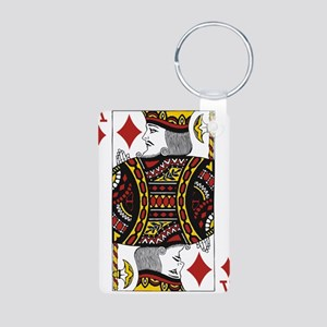 King of Diamonds Aluminum Photo Keychain