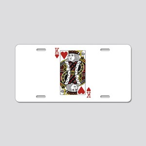 King of Hearts Aluminum License Plate