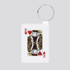 King of Hearts Aluminum Photo Keychain
