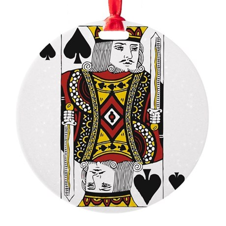 King of Spades Round Ornament