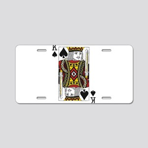 King of Spades Aluminum License Plate