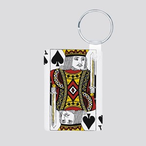 King of Spades Aluminum Photo Keychain