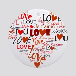 Love Heart Ornament (Round)
