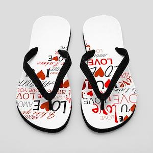 Love Heart Flip Flops