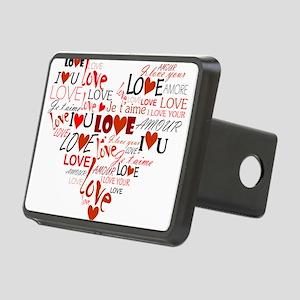 Love Heart Rectangular Hitch Cover