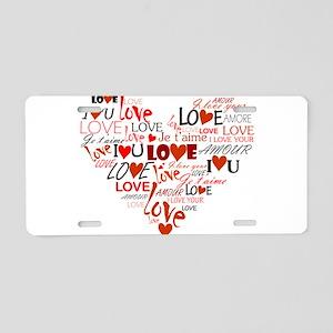 Love Heart Aluminum License Plate