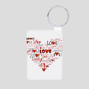 Love Heart Aluminum Photo Keychain