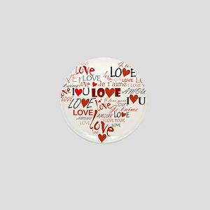 Love Heart Mini Button