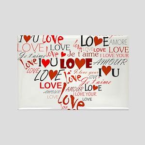 Love Heart Rectangle Magnet