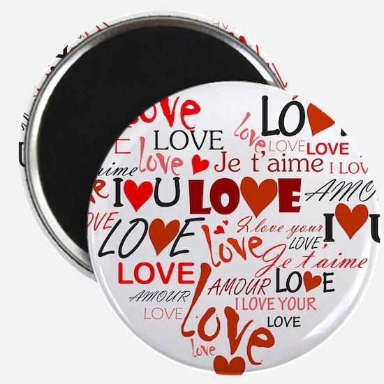 """Love Heart 2.25"""" Magnet (100 pack)"""