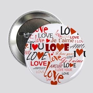 "Love Heart 2.25"" Button"
