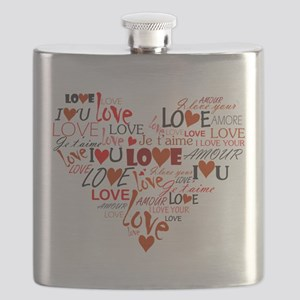 Love Heart Flask