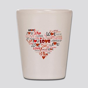 Love Heart Shot Glass