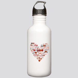 Love Heart Stainless Water Bottle 1.0L