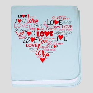 Love Heart baby blanket