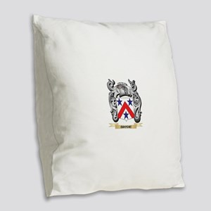 Brodie Family Crest - Brodie C Burlap Throw Pillow